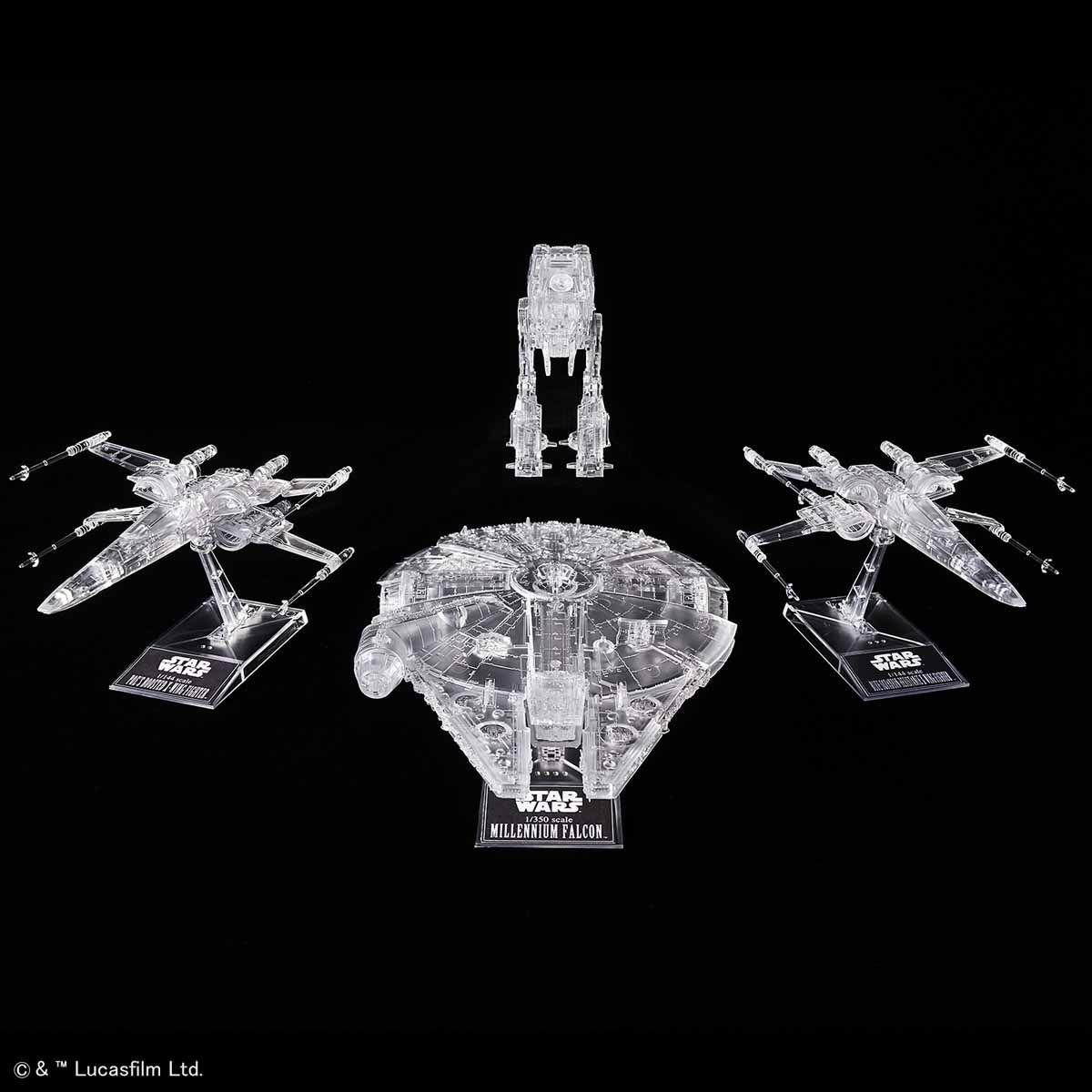 1/144 & 1/350 & 1/540 『星際大戰: THE LAST JEDI』 透明載具套件