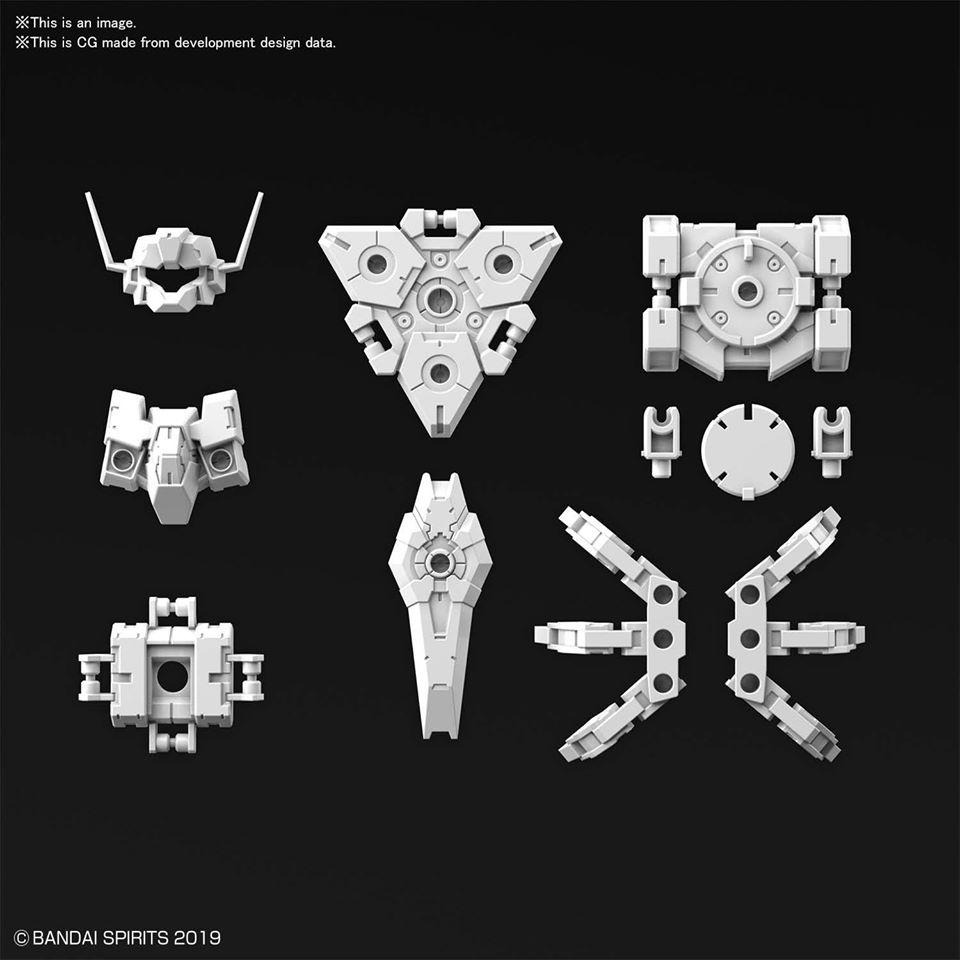 30MM 1/144 指揮官機用選配式裝甲 [拉比歐用/白色]