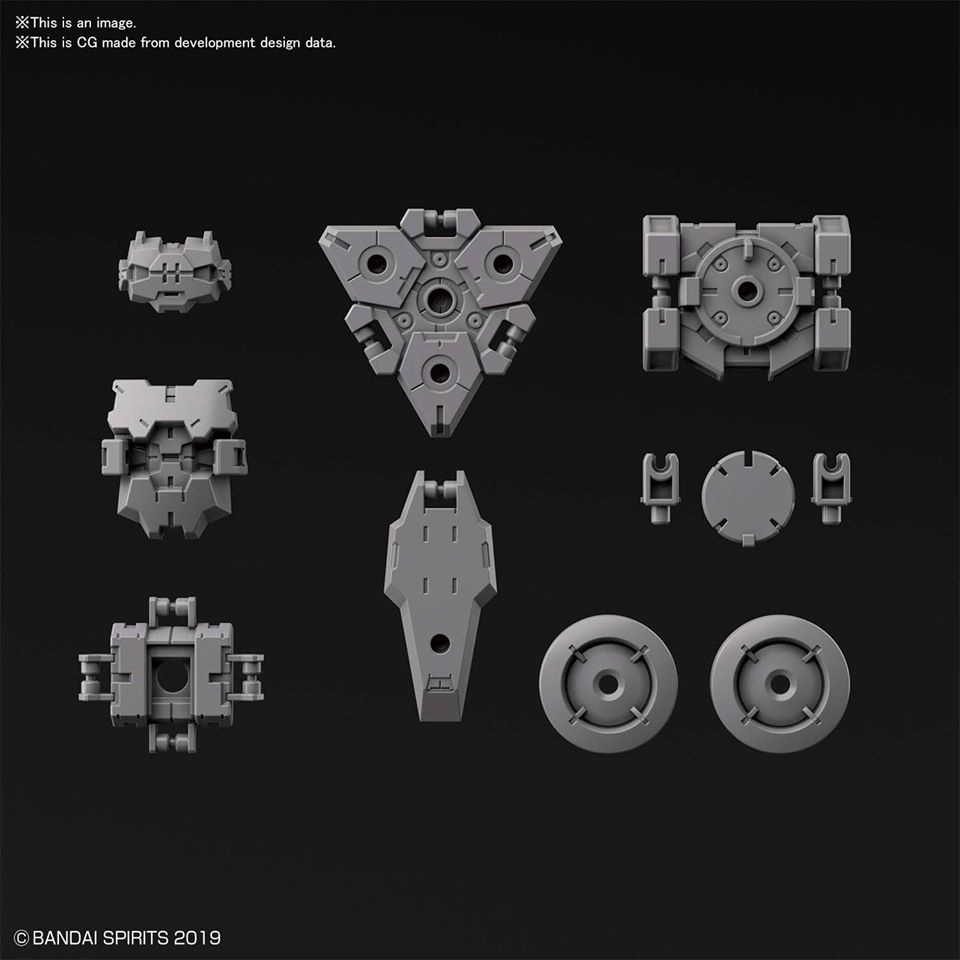 30MM 1/144 無人偵查機用選配式裝甲 [拉比歐用 / 淺灰色]