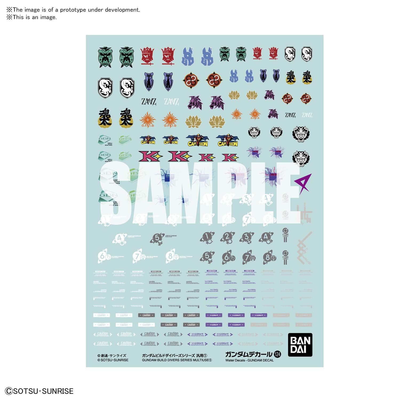 鋼彈水貼紙No.124 鋼彈創鬥者潛網大戰系列 通用①